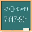 Math on chalkboard icon