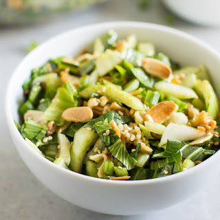Baby Bok Choy Salad with Sesame Dressing.