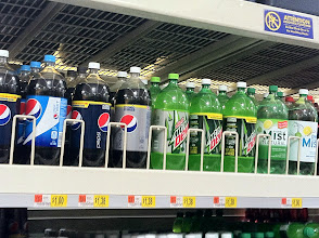 Photo: My kids are not a fan of tea so I picked up some Mountain Dew for them.