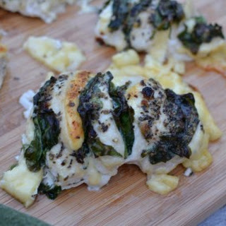 Gouda & Spinach Hasselback Chicken.