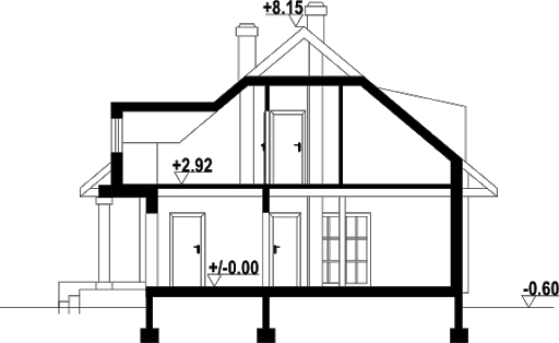 Chmielniki małe dw - Przekrój