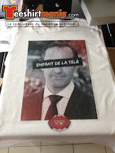 Photo: T-shirt personnalisé et imprimé en transfert numérique.