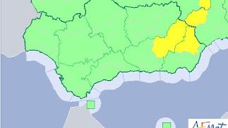 Mapa de las alertas climatológicas hoy en la provincia.