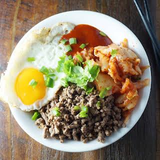 Bibimbap – Mixed Rice with Korean Beef.