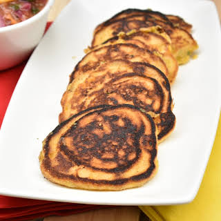 Corn and Jalapeno Hoe Cakes.