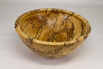 "Photo: Tim Aley 9 3/4"" x 4"" bowl [spalted malpe]"
