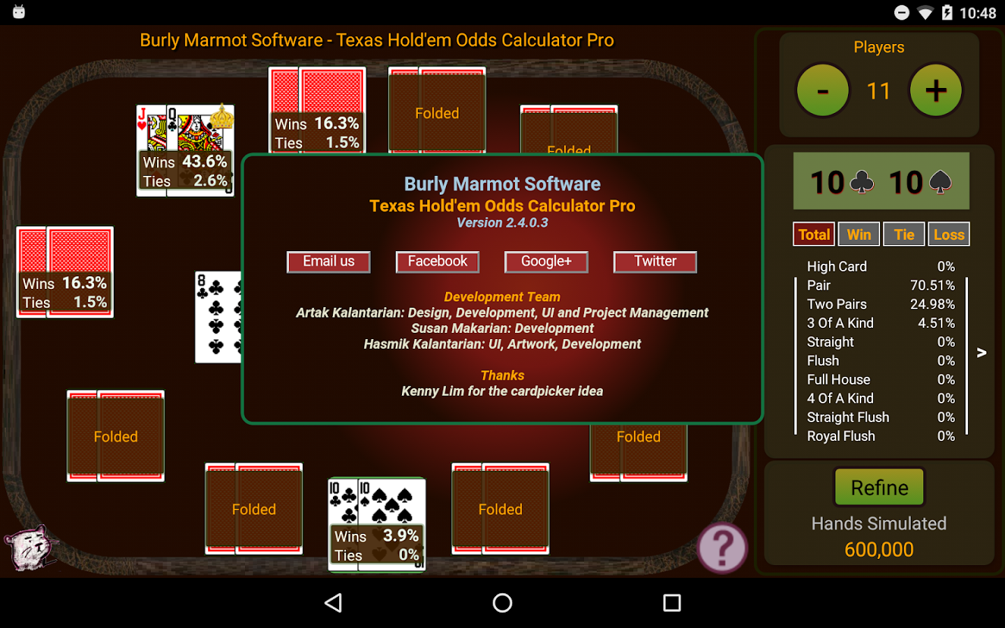 hold em odds calculator pro android apps on play
