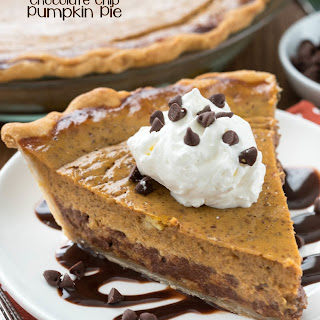 Mom's Chocolate Chip Pumpkin Pie