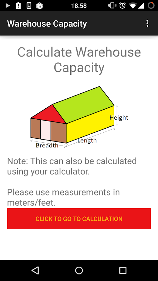 Warehouse Capacity Calculator Android Apps On Google Play