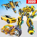 Jet Robot Car Transformation :Robot Car Games icon