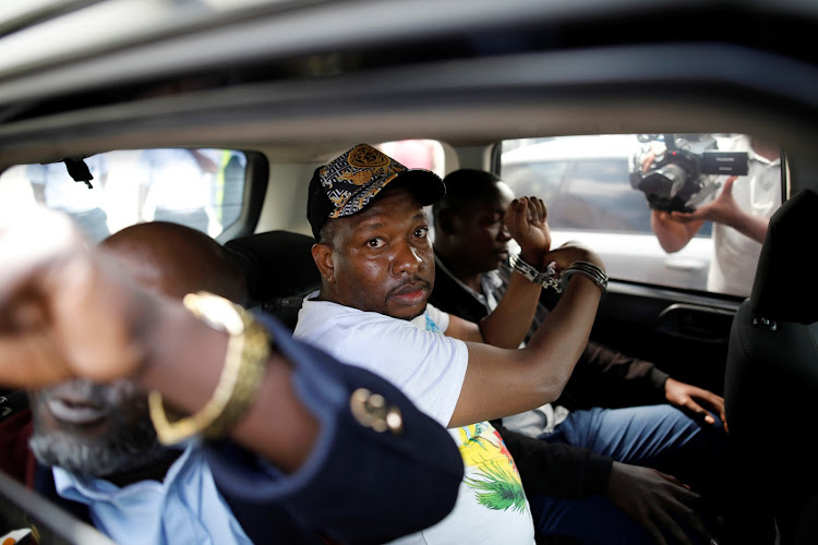 Nairobi Governor Mike Sonko after being arrested on December 6, 2019.