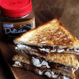 Grilled Delicia Marshmallow Sandwich.