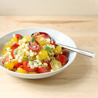 Tomato and Fresh Corn Salad with Shallot Vinaigrette Recipe