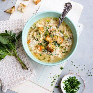 Pressure cooker Italian chicken soup.