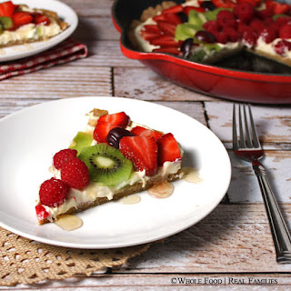 Fresh Fruit Pizza with a Whole Wheat Crust.