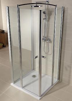 Paroi de douche en U, Delta Lux II, avec 1 paroi latérale