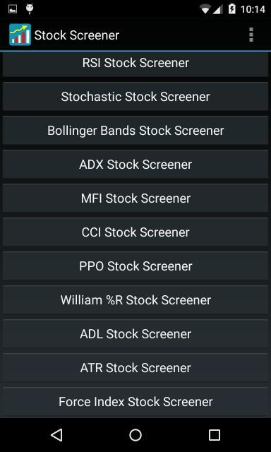 Stock Screener- screenshot