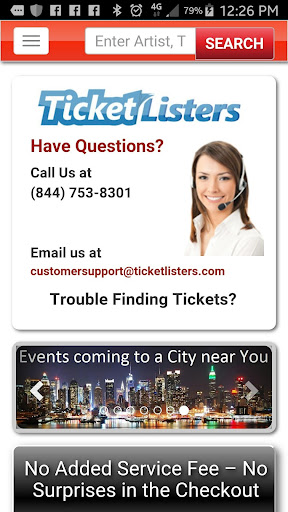 Event Tickets by TicketListers Screenshot