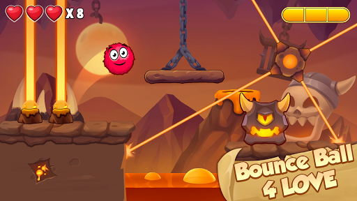 Bounce Ball 4 Love and Red Roller Ball 3 android2mod screenshots 3