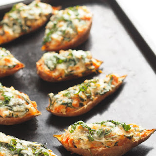 Sweet Potato Skins With Spinach