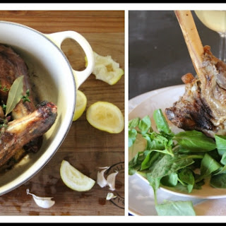 {White Wine} Oven-Braised Lamb Shanks