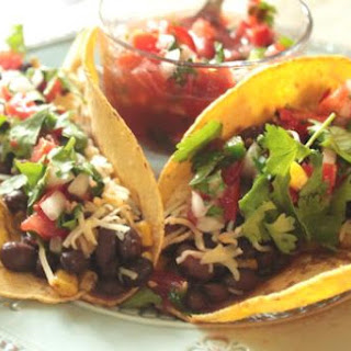 Black Bean Tacos with Tomato Salsa.