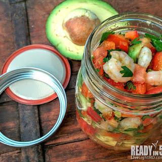 Cheater Shrimp Ceviche with Avocado and Jicama Chips Recipe