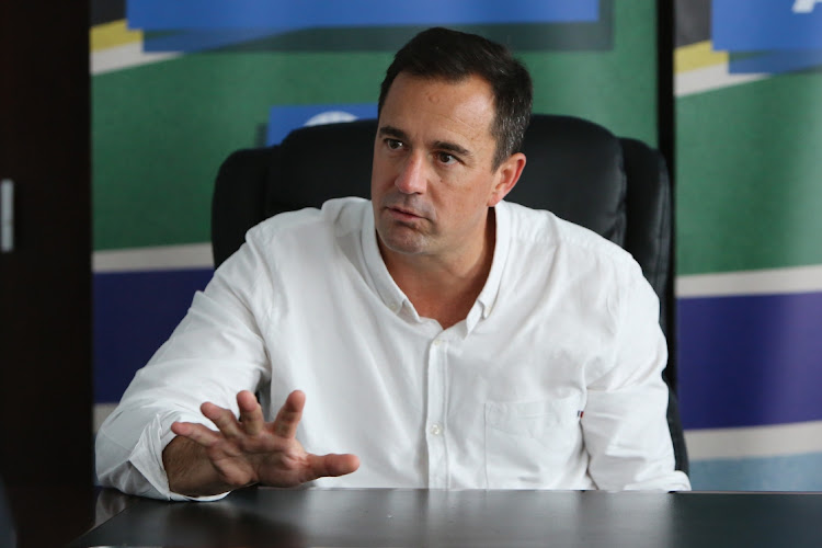 DA leader John Steenhuisen has called for a low-key and low-budget Sona after the pandemic. File photo.