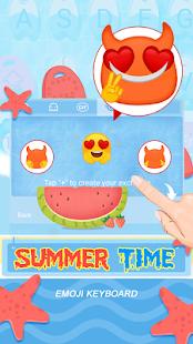 Summer Time Theme&Emoji Keyboard - náhled