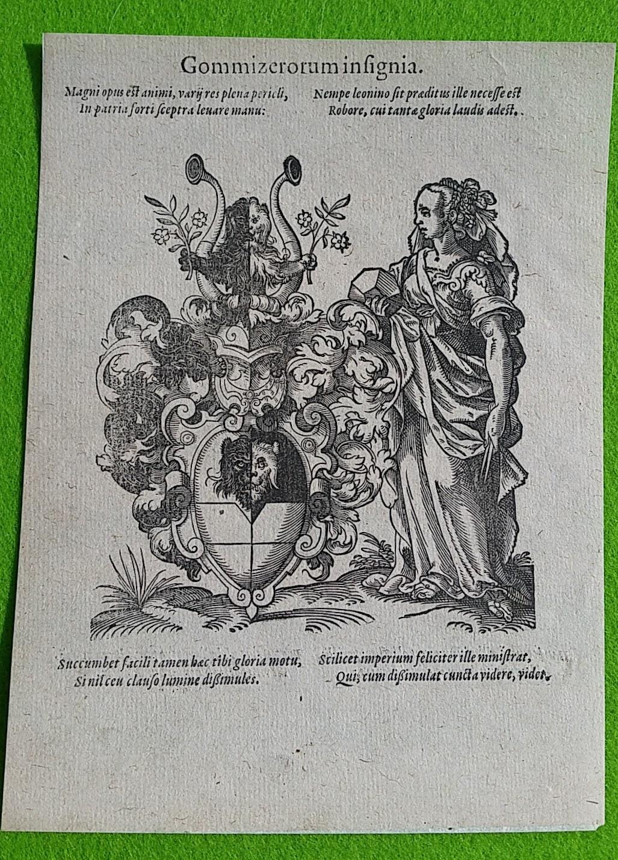 Jost Amman - Der Gommitzer - Original-Stich von 1579