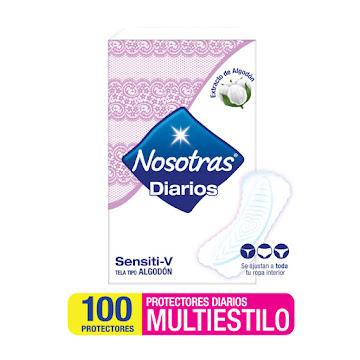 Protectores Nosotras   Sensitive Multiestilo x100