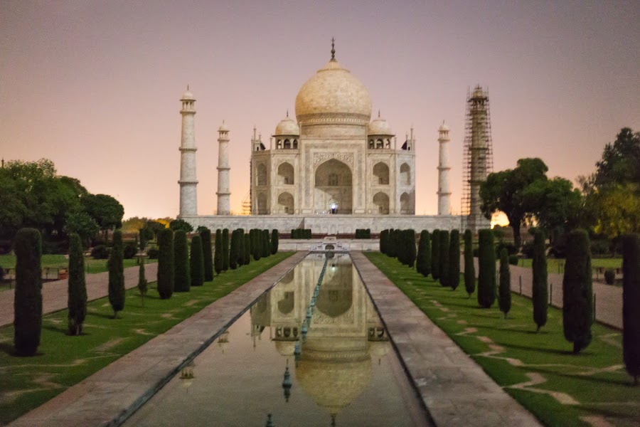 Taj Mahal in Night by Pradyumna Verma - Buildings & Architecture Public & Historical ( night photography, indian history, indian heritage, taj mahal, wonder of the world, monument, world heritage site, hand held )