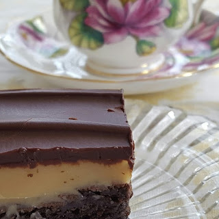 Caramel and Chocolate Ganache Topped Brownies Recipe