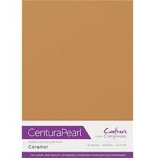 Crafters Companion Centura Pearl Card Pack A4 10Pkg 300gr - Caramel