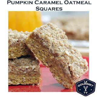 Pumpkin Caramel Oatmeal Squares