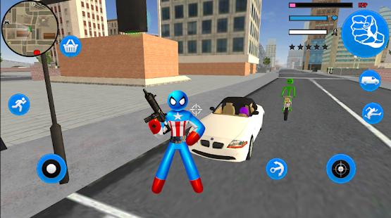 Download Capitaine Spider American Stickman Rope Hero Mafia For PC Windows and Mac apk screenshot 1
