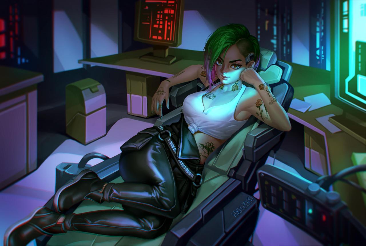 Пятничный арт на Джуди Альварес из Cyberpunk 2077