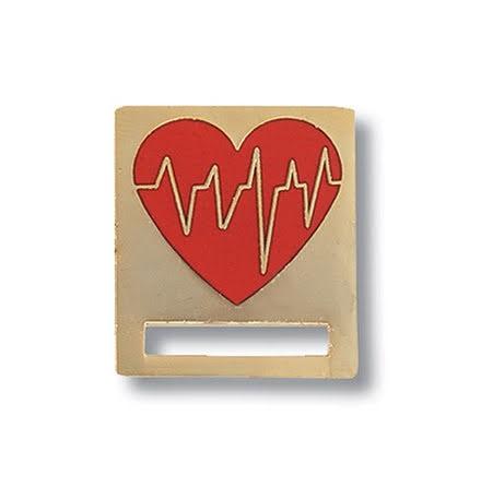 Emblem och ID-Bricka med EKG