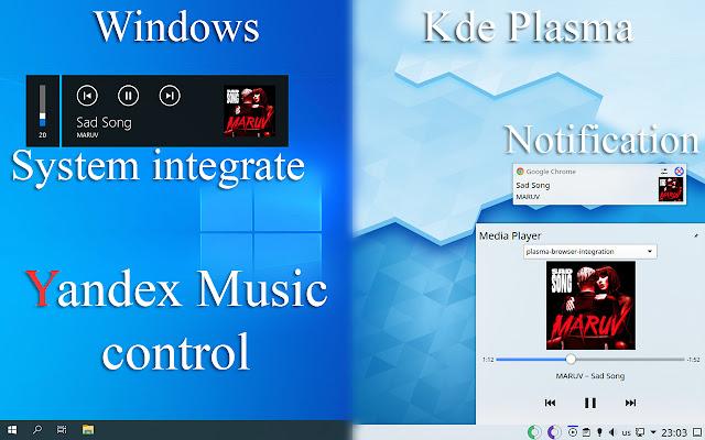 Yandex Music control