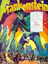 """Photo: O único resquício do teste de Bela Lugosi como """"Frankenstein"""": um poster promocional. http://filmesclassicos.podbean.com"""