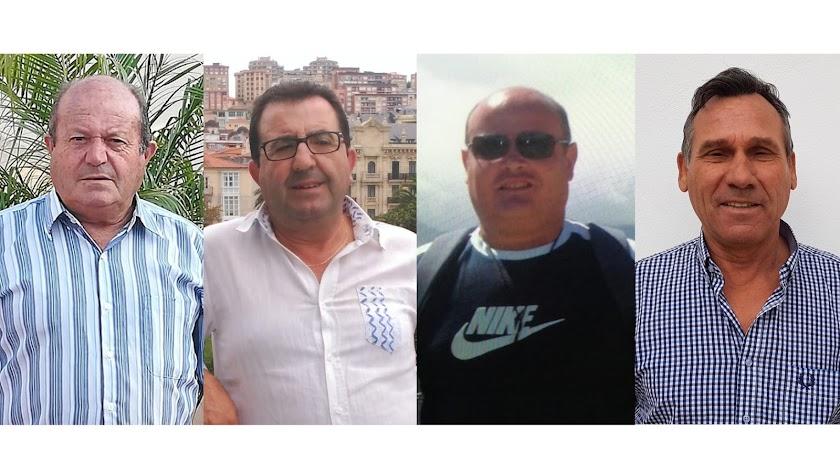 Juan Cervantes (Pozo de la Higuera), Alfonso Serrano (Topares), Pedro Carrasco (Las Norias)  y Juan Velasco (Villaricos).