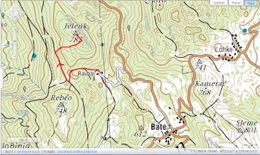 Photo: potek od kmetije Ravhar do vrha Jelenka in po isti poti nazaj