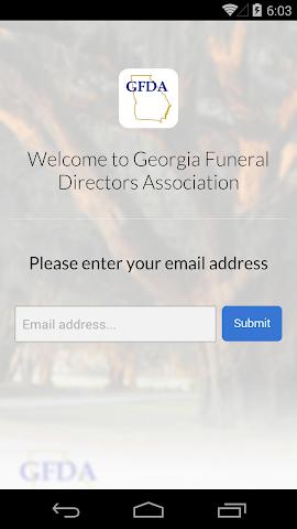 android Georgia Funeral Directors Assc Screenshot 1