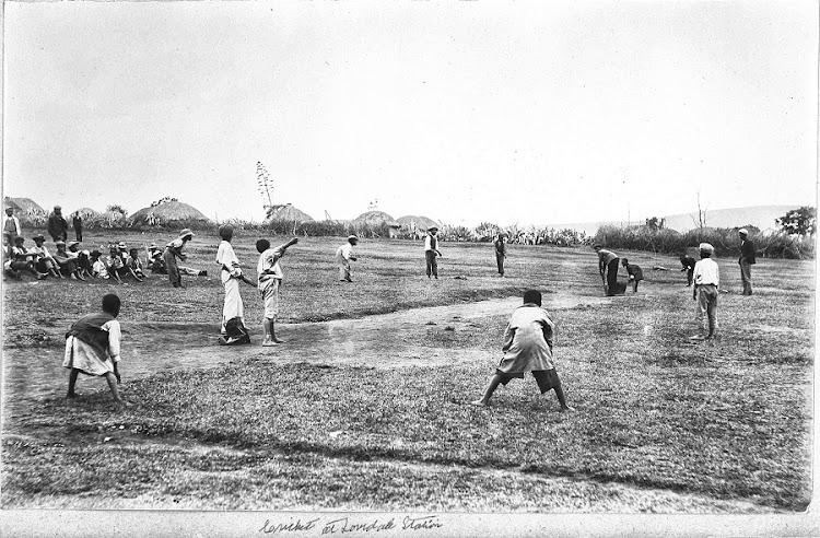 19th century kids Children playing cricket in the Eastern Cape in the 19th century. Picture: SUPPLIED