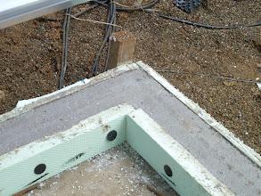 Photo: auf das Streifenfundament kommt unser Gewächshausfundament.