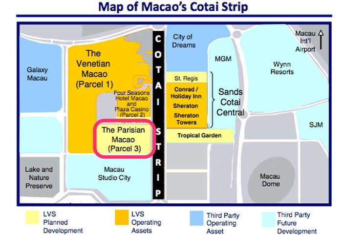 Macau Cotai Strip map