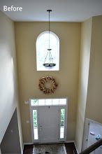 Photo: (Before) front door and arched window