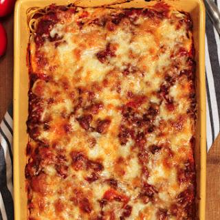 Easy Spaghetti Casserole.