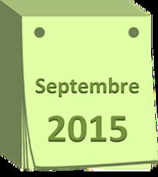 agenda septembre 2015