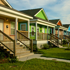 Musician's Village by Hugh Hazelrigg - Buildings & Architecture Homes ( houses, nola, buildings, architecture, street scene )